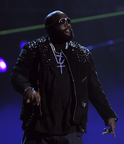 Rick Ross Rapper Rick Ross performs onstage during the BET Awards '11 held at the Shrine Auditorium on June 26, 2011 in Los Angeles, California.