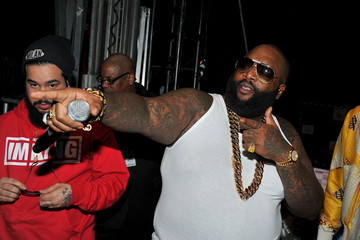 Rick Ross Backstage at BET's Rip the Runway Show