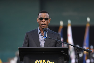 Rickey Henderson Los Angeles Angels of Anaheim v Oakland Athletics
