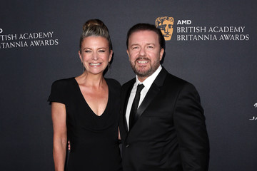 Ricky Gervais 2016 AMD British Academy Britannia Awards Presented by Jaguar Land Rover and American Airlines - Arrivals