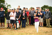 Yani Tseng of Taiwan plays her second shot on the 2nd hole during day one of Ricoh Women's British Open at Royal Lytham & St. Annes on August 2, 2018 in Lytham St Annes, England.