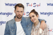 """Mackenzie Hunkin (L) and Louise Roe attend """"A Ride Through the Ages"""": Wrangler Capsule Collection Launch at Fred Segal Sunset at Fred Segal on September 19, 2019 in Los Angeles, California."""