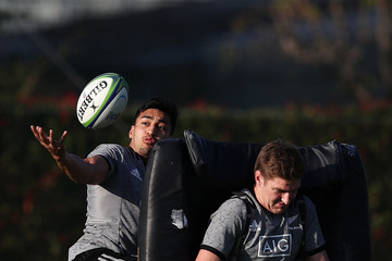 Rieko Ioane New Zealand All Blacks Press Conference & Training Session