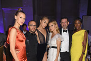Richie Akiva, Jasmine Sanders, and Maria Hatzistefanis attend Rihanna's 4th Annual Diamond Ball benefitting The Clara Lionel Foundation at Cipriani Wall Street on September 13, 2018 in New York City.