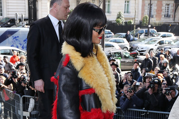 Rihanna Arrivals at the Miu Miu Show