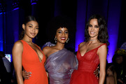 (L-R) Danielle Herrington, Ebonee Davis, and Sofia Resing attend Rihanna's 5th Annual Diamond Ball Benefitting The Clara Lionel Foundation at Cipriani Wall Street on September 12, 2019 in New York City.