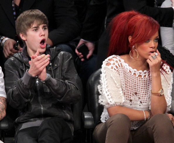 Justin Bieber and Rihanna - 2011 NBA All-Star Game - Performances And Celebrities