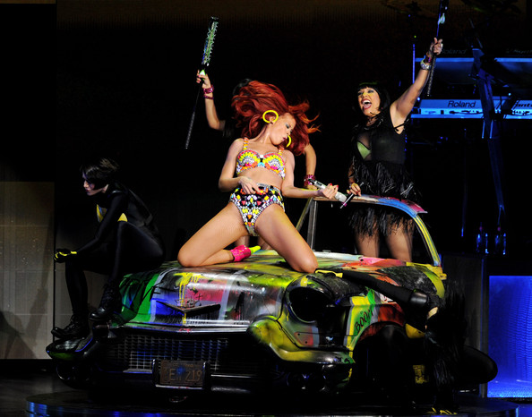 Rihanna Singer Rihanna performs at the Staples Center on June 28, 2011 in Los Angeles, California.