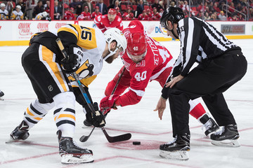 Riley Sheahan Pittsburgh Penguins v Detroit Red Wings
