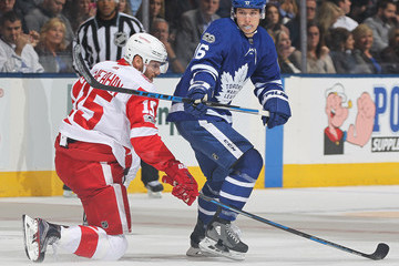Riley Sheahan Detroit Red WIngs v Toronto Maple Leafs
