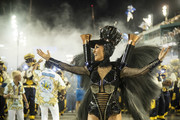 Sabrina Sato dances during Unidos de Vila Isabel performance at the Rio de Janeiro Carnival at Sambodromo on March 4, 2019 in Rio de Janeiro, Brazil.