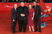 Jeffrey Katzenberg, executive producer Guillermo del Toro, producer Christina Steinberg and director Peter Ramsey attends 'Rise Of The Guardians' Premiere during The 7th Rome Film Festival at Auditorium Parco Della Musica on November 13, 2012 in Rome, Italy.