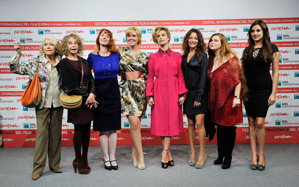 """Il Cuore Grande Delle Ragazze"" Photocall - Rome Film Fest [il cuore grande delle ragazze,event,fashion,award,fashion design,dress,award ceremony,competition,team,tourism,performance,manuela morabito,micaela ramazzotti,stefania barca,rita carlini,gisella sofio,photocall,l-r,rome,international rome film festival]"