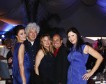"""(L-R) Sarah Ann Schultz,Avi Lerner,Heidi Jo Markel, Richard Salvatore,Christa Campbell attends """"The River Sorrow"""" party during the 64th Annual Cannes Film Festival at Nikki Beach on May 16, 2011 in Cannes, France."""