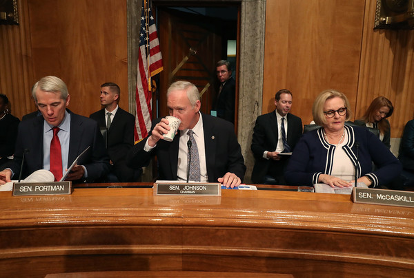DHS Chief Kirstjen Nielsen And FBI Director Chris Wray Testify To Senate Homeland Security Committee On Threats To Homeland