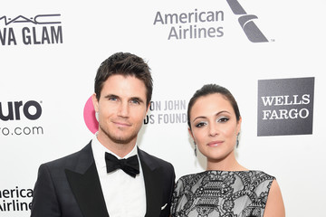 Robbie Amell Arrivals at the Elton John AIDS Foundation Oscars Viewing Party — Part 3