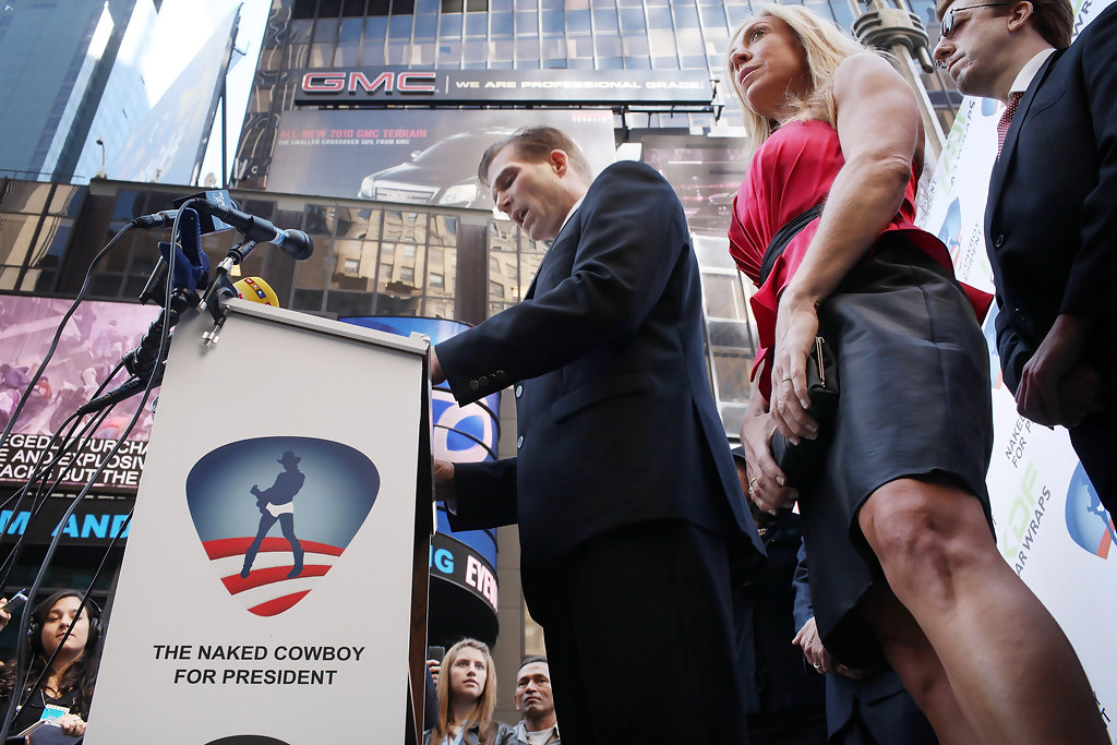 Naked Cowboy, Times Square staple, to run for President in