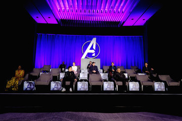 Robert Downey Jr. Chris Hemsworth Marvel Studios' 'Avengers: Endgame' Global Junket Press Conference