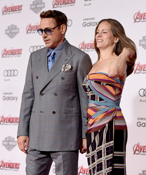 Premiere Of Marvel's 'Avengers: Age Of Ultron' - Red Carpet [avengers: age of ultron,red carpet,suit,premiere,fashion,carpet,dress,event,fashion design,eyewear,formal wear,outerwear,susan downey,robert downey jr,dolby theatre,california,hollywood,marvel,l,premiere]