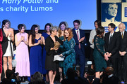 President, Robert F. Kennedy Human Rights Kerry Kennedy and the Kennedy family present an award to J.K. Rowling on stage during the Robert F. Kennedy Human Rights Hosts 2019 Ripple Of Hope Gala & Auction In NYC on December 12, 2019 in New York City.