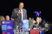 Honoree Harry Belafonte speaks as Ethel Kennedy looks on during Robert F. Kennedy Human Rights Hosts Annual Ripple Of Hope Awards Dinner on December 13, 2017 in New York City.
