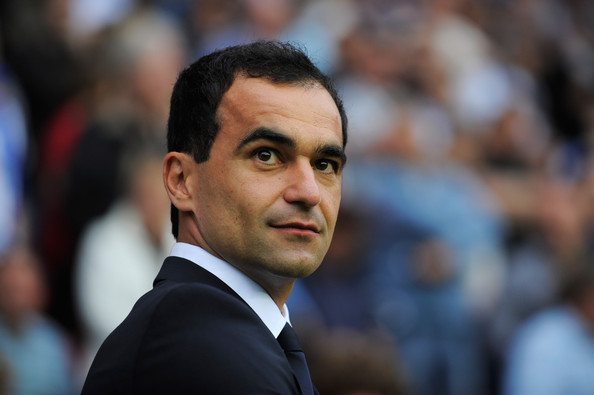 Roberto Martinez Roberto  Martinez manager of Wigan Athletic looks on during the Barclays Premier  League match between Wigan Athletic and Chelsea at DW Stadium on August  21, 2010 in Wigan, England.