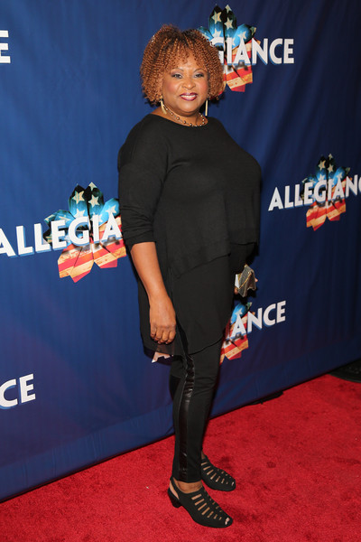 'Allegiance' Broadway Opening Night - Arrivals & Curtain Call [red carpet,carpet,premiere,electric blue,footwear,flooring,event,shoe,performance,robin quivers,allegiance,curtain call,red carpet,new york city,the longacre theatre,broadway,opening night - arrivals]