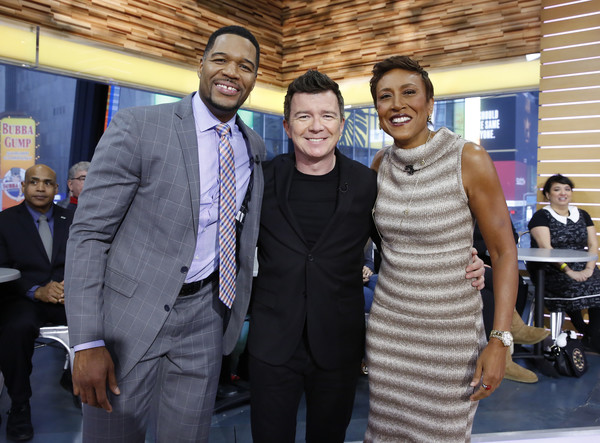 "ABC's ""Good Morning America"" - 2017 [event,community,white-collar worker,businessperson,employment,management,smile,job,tourism,good morning america,photo,rick astley,michael strahan,robin roberts,heidi gutman,abc,abc television network,getty images]"