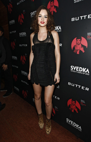 Leighton Meester Actress Leighton Meester attends the album release party at Butter on December 15, 2009 in New York City.