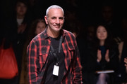 Designer Alessandro Dell'Acqua appears on the catwalk after the Rochas show as part of the Paris Fashion Week Womenswear Fall/Winter 2015/2016  on March 4, 2015 in Paris, France.