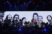 Bruce Springsteen and inductees the E Street Band perform onstage at the 29th Annual Rock And Roll Hall Of Fame Induction Ceremony at Barclays Center of Brooklyn on April 10, 2014 in New York City.