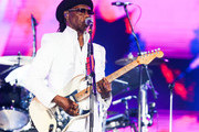 Nile Rodgers of Nile Rodgers & Chic performs on stage at Rock in Rio 2019 - Day 4 at Cidade do Rock on October 03, 2019 in Rio de Janeiro, Brazil.