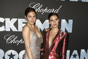 """Siran Manoukian (L) and Sara Sampaio attend the """"Rocketman"""" Gala Party during the 72nd annual Cannes Film Festival on May 16, 2019 in Cannes, France."""