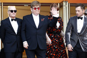 "Bernie Taupin, Sir Elton John, Bryce Dallas Howard and Taron Egerton attend the screening of ""Rocket Man"" during the 72nd annual Cannes Film Festival on May 16, 2019 in Cannes, France."