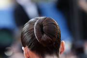 """Sara Sampaio, hair detail, attends the screening of """"Rocket Man"""" during the 72nd annual Cannes Film Festival on May 16, 2019 in Cannes, France."""