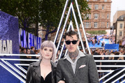 "Kelly Osbourne and Jimmy Q  attends the ""Rocketman"" UK Premiere at Odeon Leicester Square on May 20, 2019 in London, United Kingdom."
