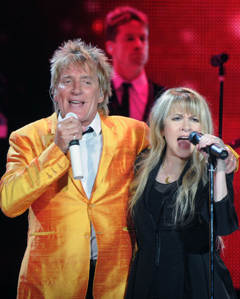 rod stewart wives. Stevie Nicks and Rod Stewart