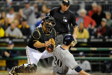 Rod Barajas Milwaukee Brewers v Pittsburgh Pirates