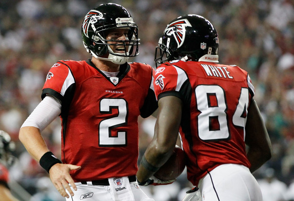 Matt Ryan and Roddy White - Philadelphia Eagles v Atlanta Falcons