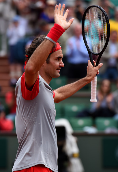 Roger+Federer+2014+French+Open+Day+One+E