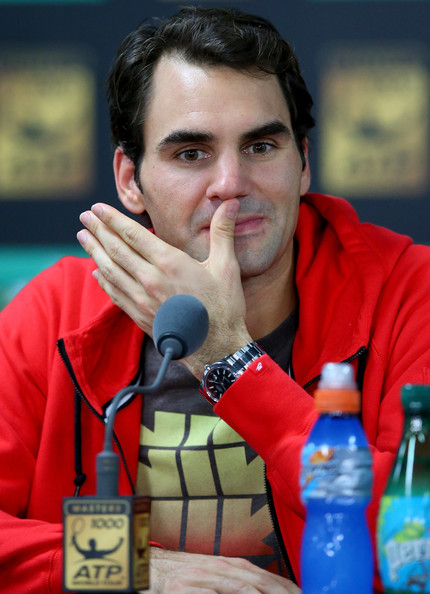 Roger+Federer+BNP+Paribas+Masters+Day+Si