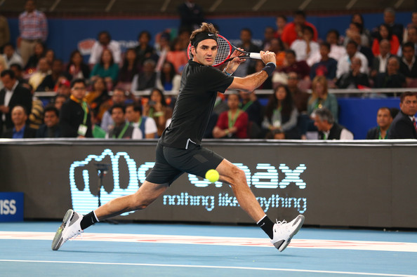 Roger Federer - Coca-Cola International Premier Tennis League - India: Day Two