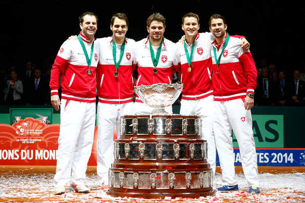 Roger Federer - France v Switzerland - Davis Cup World Group Final: Day Three
