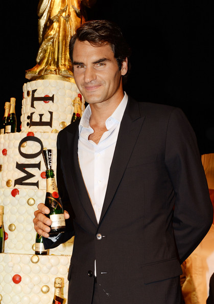 Roger Federer - Moet &  Chandon Celebrates Its 270th Anniversary With New Global Brand Ambassador, International Tennis Champion, Roger Federer - Inside