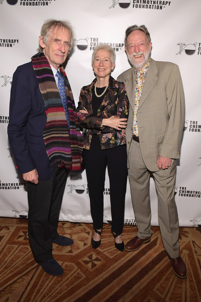 Chemotherapy Foundation Honors Actor, Producer And Philanthropist Pierce Brosnan With Humanitarian Award At Innovation Gala [pierce brosnan with humanitarian award at innovation gala,event,fashion,award,fashion design,suit,roger spottiswoode,producer,philanthropist,malcolm pike,r,honoree,chemotherapy foundation honors actor,l,innovation gala]