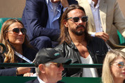 French DJ Bob Sinclar watches Dusan Lajovic of Serbia play against Daniil Medvedev of Russia in their semifinal match during day seven of the Rolex Monte-Carlo Masters at Monte-Carlo Country Club on April 20, 2019 in Monte-Carlo, Monaco.