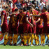 Stefan El Shaarawy Photos - Stefan El Shaarawy with his teammates of AS Roma celebrates after scoring the opening goal during the serie A match between AS Roma and Chievo Verona at Stadio Olimpico on September 16, 2018 in Rome, Italy. - AS Roma vs. Chievo Verona - Serie A