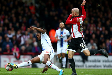 Romaine Sawyers Brentford v Walsall - The Emirates FA Cup Third Round