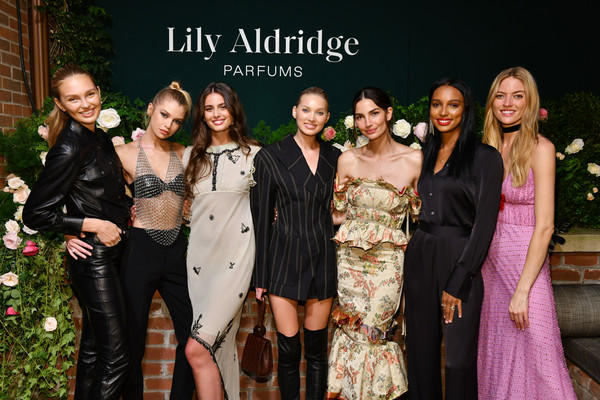 Lily Aldridge Parfums Launch Event [photo,fashion,event,lady,formal wear,dress,fashion design,haute couture,ceremony,party,fashion accessory,lily aldridge,stella maxwell,martha hunt,jasmine tookes,elsa hosk,bowery hotel,romee strijd,taylor hill,lily aldridge parfums launch event]
