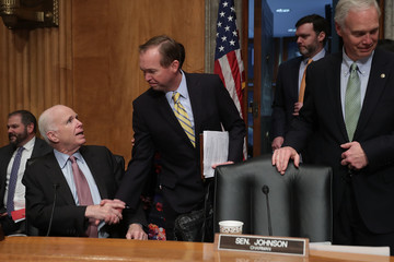 Ron Johnson Rep. Mick Mulvaney Attends Senate Confirmation Hearing for Him to Be Director of Office of Management and Budget